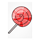 LolliPop red Stationery Paper