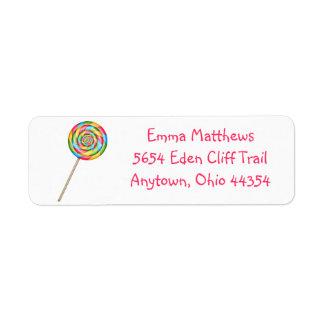 Lollipop Return Address Labels- Hot Colors Label