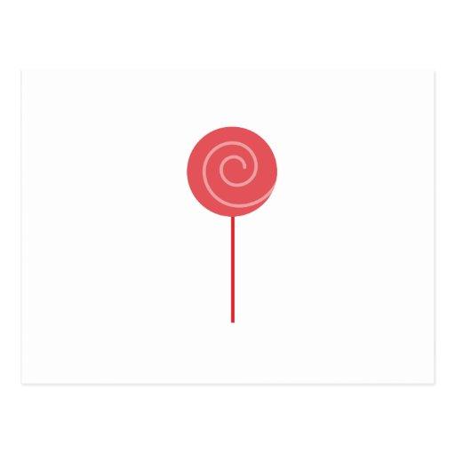 Lollipop rojo tarjetas postales