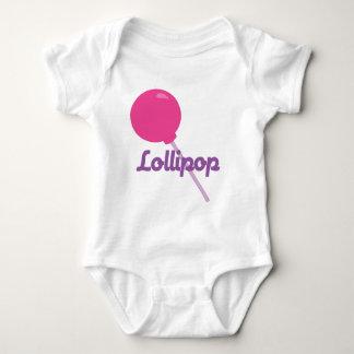 Lollipop rosado brillante mameluco de bebé