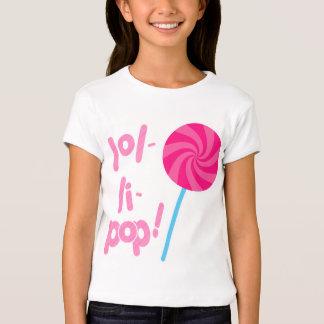 Lollipop rosado y azul playera