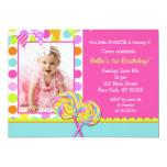 Lollipop Sweet Shoppe Birthday Party Invitation
