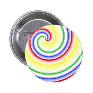 Lollipop Swirl 2 Inch Round Button