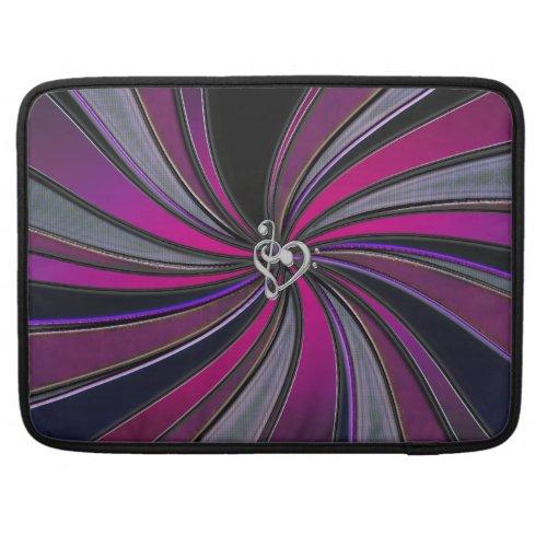 Lollipop Swirl Music Treble Bass Heart Clef Sleeve Sleeve For MacBooks