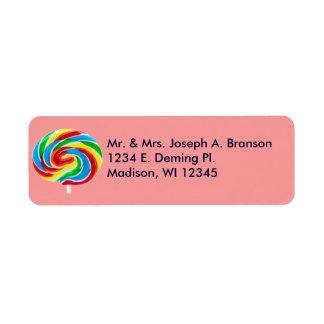 Lollipop Swirl Return Address Labels