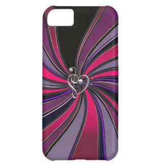 Lollipop Swirl With Treble Bass Clef Heart iPhone5 iPhone 5C Case