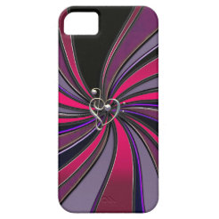 Lollipop Swirl With Treble Bass Clef Heart iPhone5 iPhone 5 Case