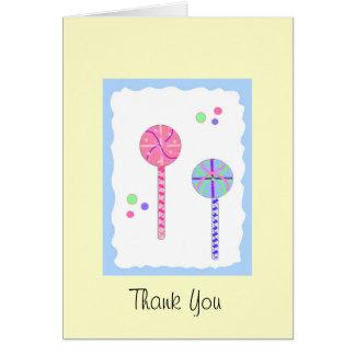 Lollipop Thank You Card