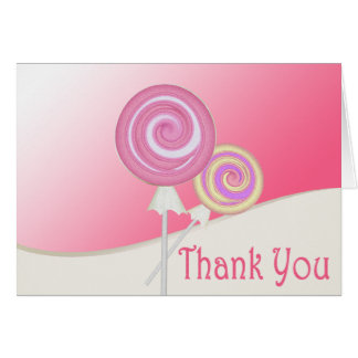 Lollipop Thank You Note Card