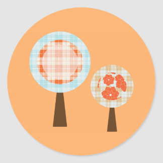 Lollipop Trees Classic Round Sticker