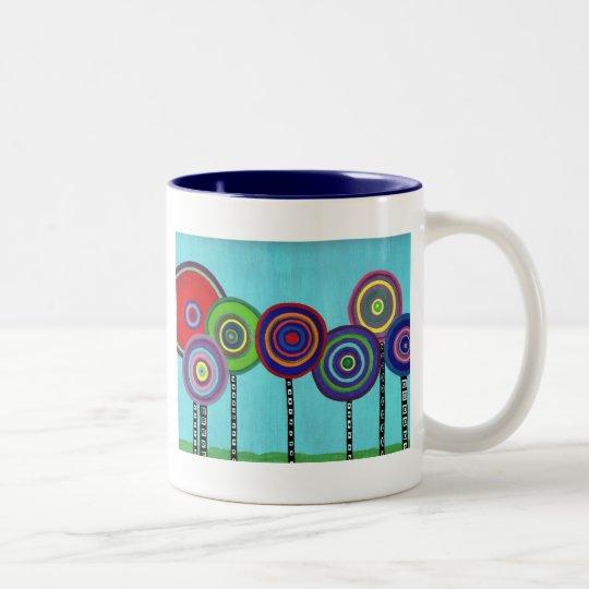 Lollipop Trees Two-Tone Coffee Mug