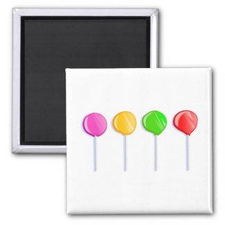 Lollipops 2 Inch Square Magnet