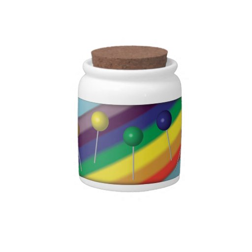 Lollipops and Rainbows Candy Jar