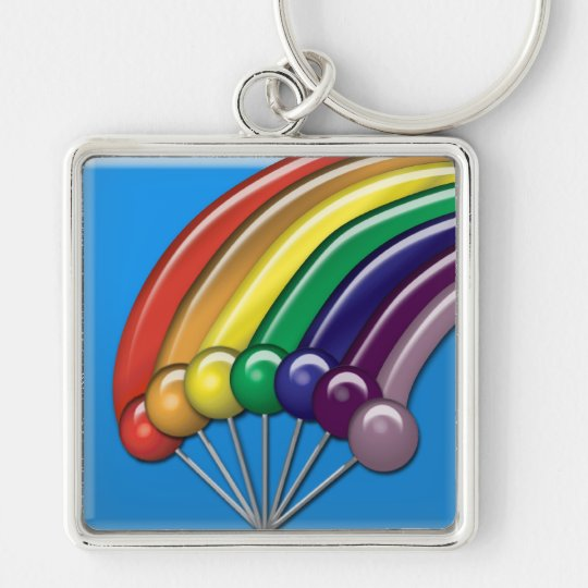 Lollipops and Rainbows Keychain