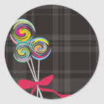 lollipops candy maker baking kitchen gift tag stic classic round sticker