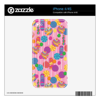 Lollipops Candy Pattern Decals For The iPhone 4
