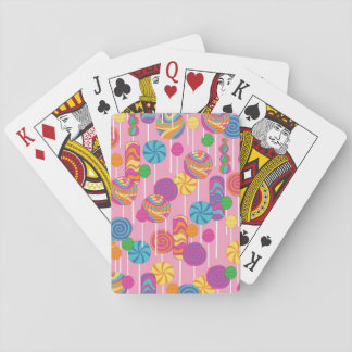 Lollipops Candy Pattern Playing Cards