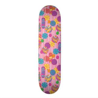 Lollipops Candy Pattern Skateboard Deck
