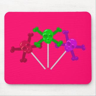 Lollipops del cráneo alfombrillas de raton