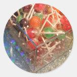 Lollipops Etiqueta Redonda