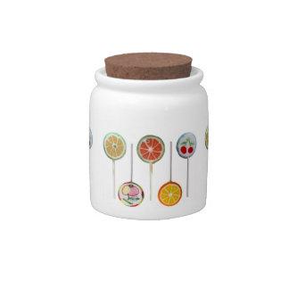lollipops tarro de cerámica para dulces