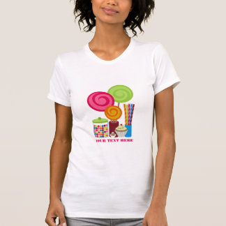 Lollipops Gumballs Chocolate Candy Cupcake T-Shirt