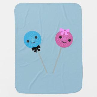 Lollipops lindos manta de bebé