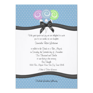 Lollipops  Party Card
