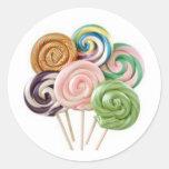 lollipops pegatina redonda