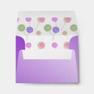 Lollipops Purple Envelopes