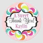 Lollipops Sweet Thank You Stickers