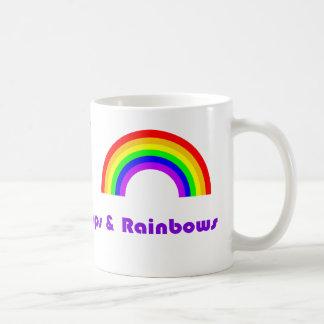 Lollipops y arco iris de la sol tazas