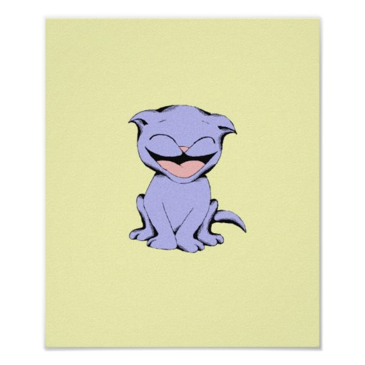 Lolly Cat Laughing Poster
