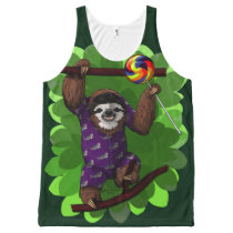 Lolly Sloth All-Over-Print Tank Top