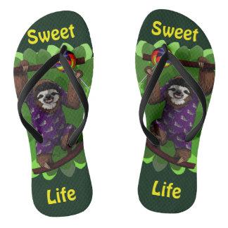 Lolly Sloth Flip Flops