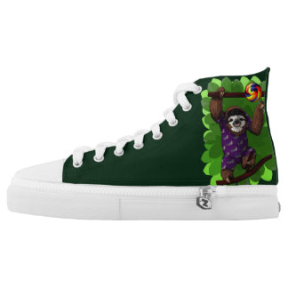 Lolly Sloth Hi-Top Printed Shoes