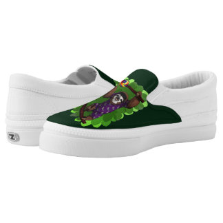 Lolly Sloth Slip-On Printed Shoes