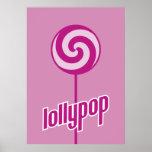 lollypop rosado dulce enfermizo póster