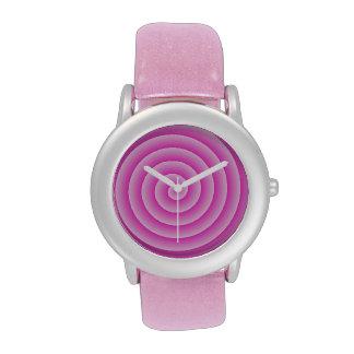 Lollypop rosado reloj de mano