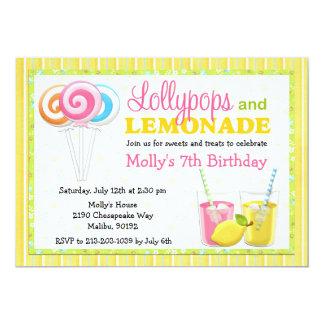 Lollypops e invitación de la fiesta de cumpleaños