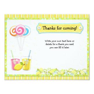 """Lollypops y la fiesta de cumpleaños de la limonada invitación 4.25"""" x 5.5"""""""