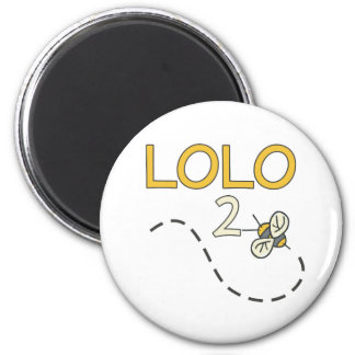 Lolo 2 Bee 2 Inch Round Magnet