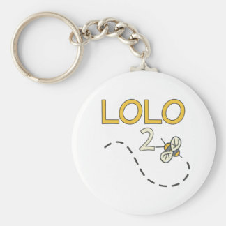 Lolo 2 Bee Basic Round Button Keychain