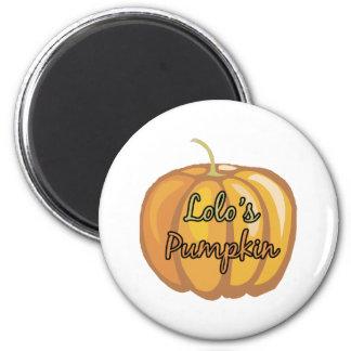 Lolo's Pumpkin 2 Inch Round Magnet