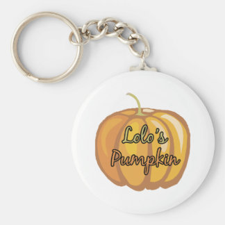 Lolo's Pumpkin Basic Round Button Keychain