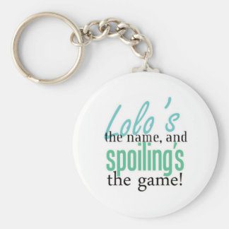 Lolo's the Name, and Spoiling's the Game Basic Round Button Keychain
