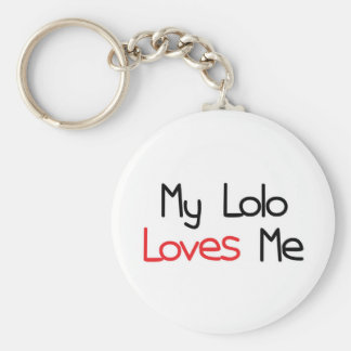 Lolo Loves Me Basic Round Button Keychain