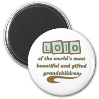 Lolo of Gifted Grandchildren 2 Inch Round Magnet