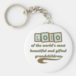 Lolo of Gifted Grandchildren Basic Round Button Keychain