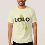 Lolo over Philippines map T-shirt